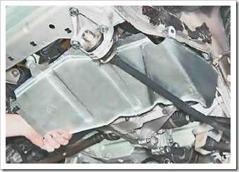 как снять брызговик двигателя ваз 2113