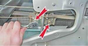 замена механизма стеклоподъемника задней двери на ваз 2114
